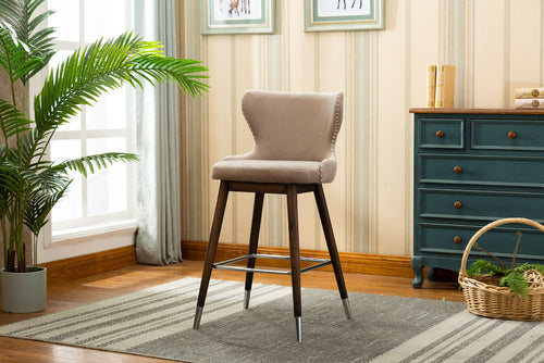 "Marbella Counter Stool 27"" (Set of 2) - Grey Velvet"