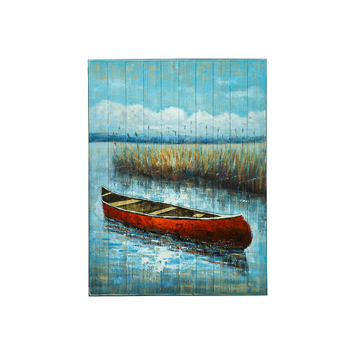 Wooden Red Canoe - 36