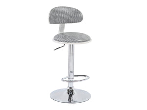 Swivel Barstool (Set of 2) - White, Silver