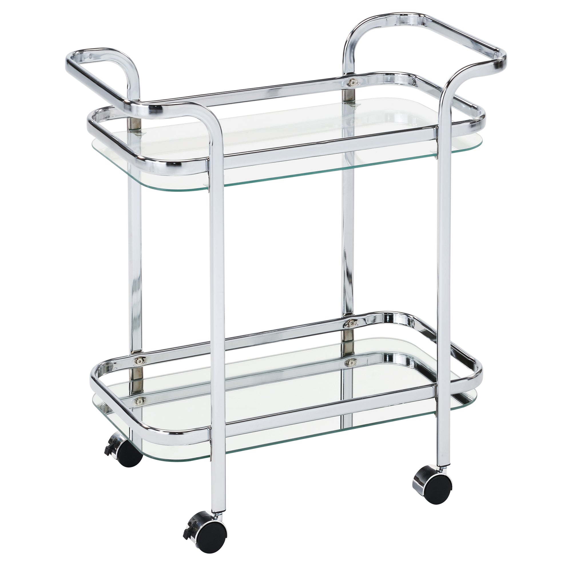 Candace & Basil Furniture |  2 - Tier Trolley - Chrome