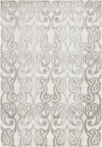 "Ikat and Suzani 5' 2"" x 7' 6"" Area Rug, Grey"