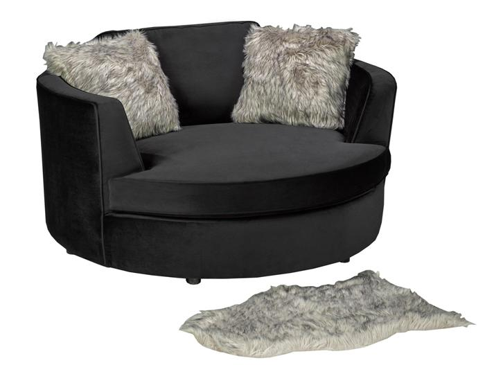 Wolfsbane Accent Chair - Black Velvet - Canadian Furniture