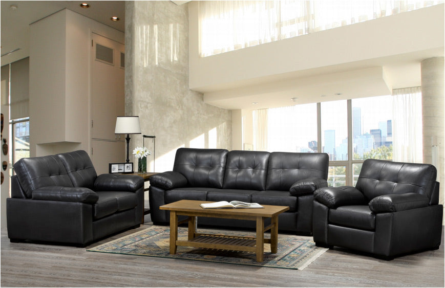 Otis Sofa Series - Black Genuine Leather 🇨🇦