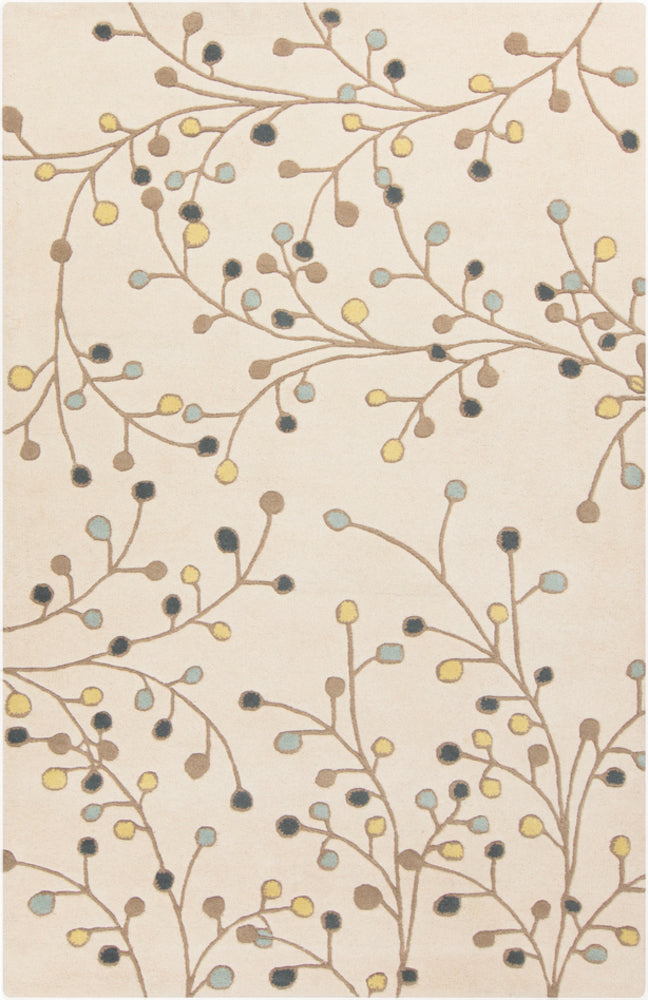 Floral and Paisley 5' x 8' Area Rug, Neutral