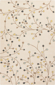 Floral and Paisley 8' x 11' Area Rug, Neutral