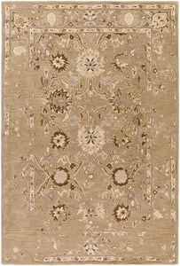 "Classic 5' x 7' 6"" Area Rug, Brown"