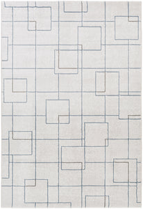 "Modern 7' 10"" x 10' Area Rug, Neutral"