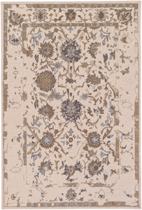 "Classic 5' x 7' 6"" Area Rug, Neutral"