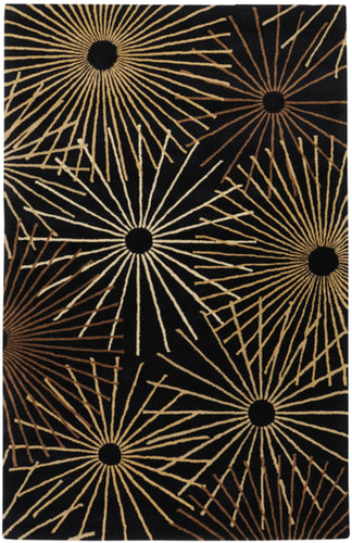 Contemporary 8' x 11' Area Rug, Black