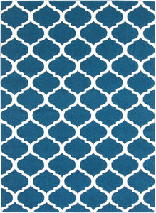 "Geometric 7' 10"" x 10' 3"" Area Rug, Blue"