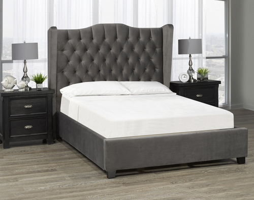 Kailua Platform Bed - Dark Grey 🇨🇦