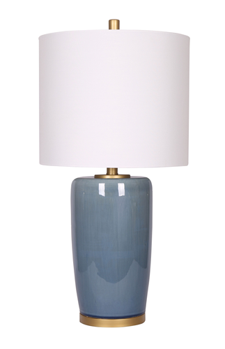 26.75'' Table Lamp Blue/Gold