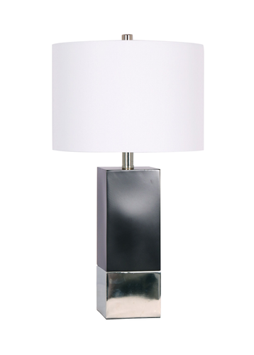 26'' Table Lamp Black/ Chrome