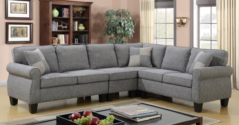 Victoria Configurable LHF/RHF Sectional - Grey