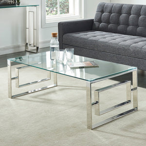 Eros Coffee Table - Silver