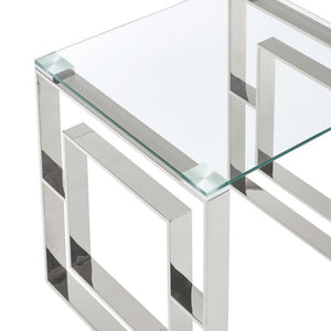 Eros Accent Table - Silver