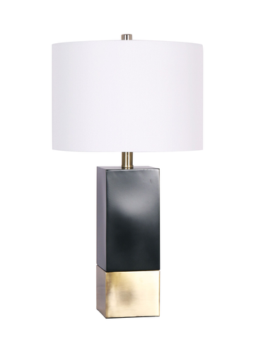 26'' Table Lamp Black/Brushed Gold