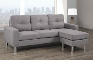 Tony LHF/RHF Configurable Condo Sectional - Light Grey