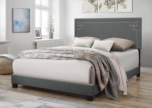 Felicita King Bed - Grey