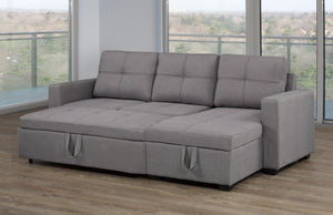 Clements Configurable LHF/RHF Sleeper Sectional w/ Storage - Grey