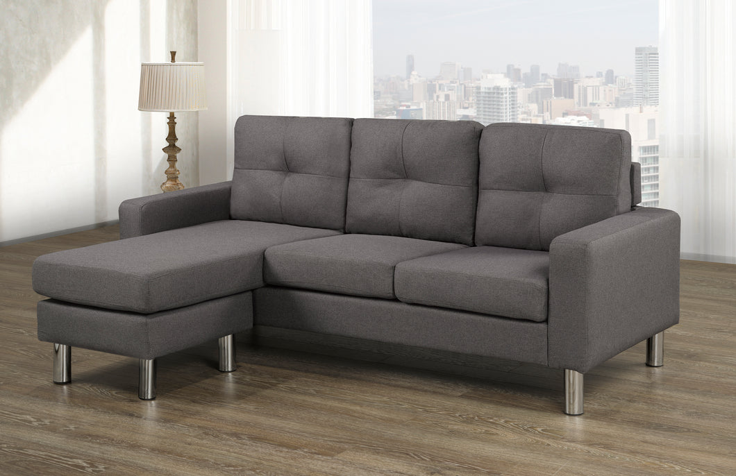 Tony LHF/RHF Configurable Condo Sectional - Dark Grey