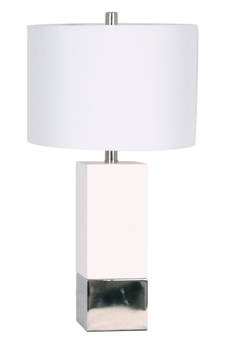 26'' Table Lamp White/ Chrome