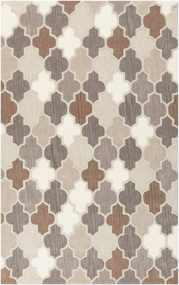 Contemporary 5' x 8' Area Rug, Brown