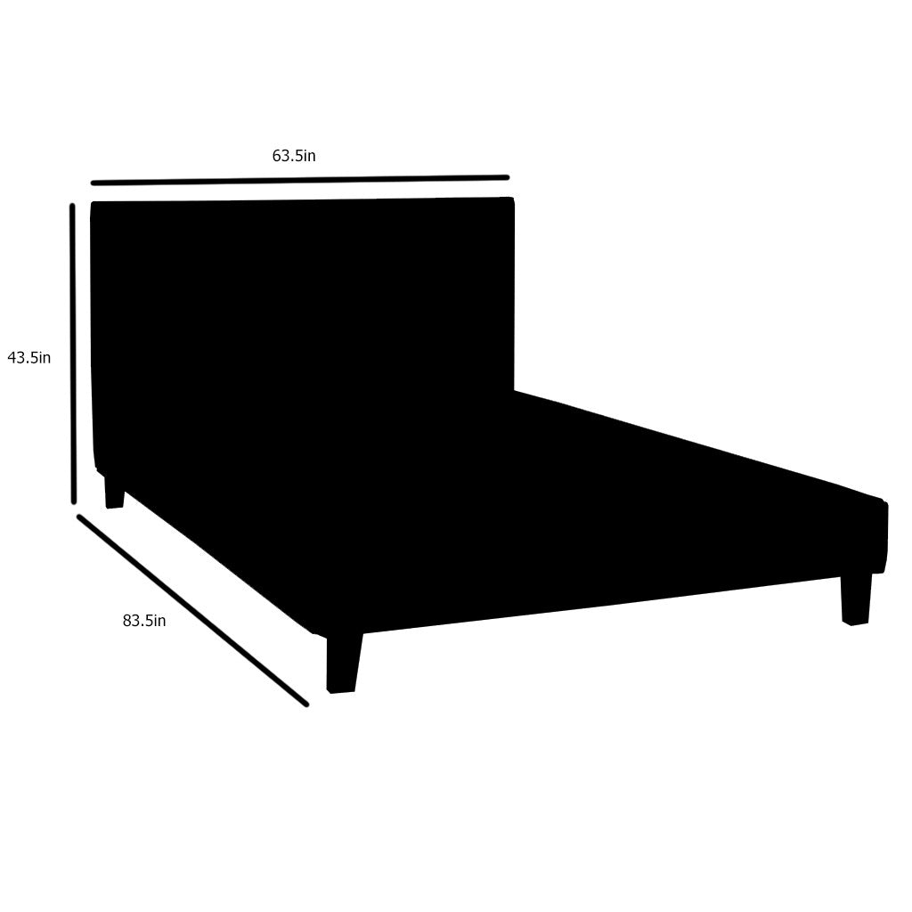 Candace and Basil | Queen Size Grey Fabric Platform Bed Frame ...