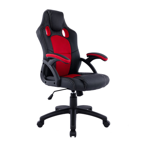 Candace & Basil Furniture |  Etro Office Chair (Red/Black)