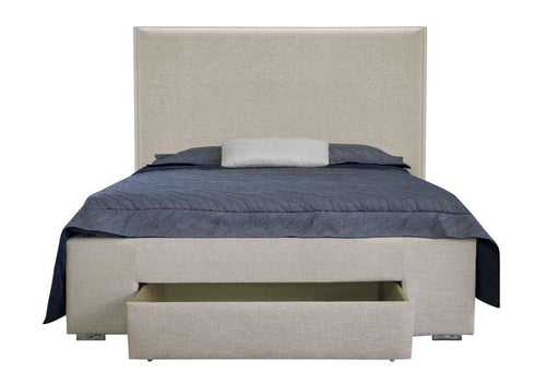 Dante Double/Full Platform Storage Bed - Beige Linen