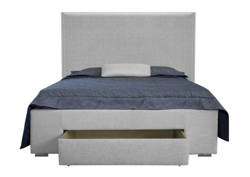 Dante Double/Full Platform Storage Bed - Light Grey