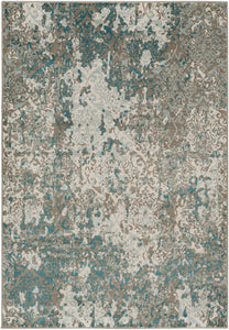 "Medallions and Damask 7' 10"" x 10' 10"" Area Rug, Neutral"