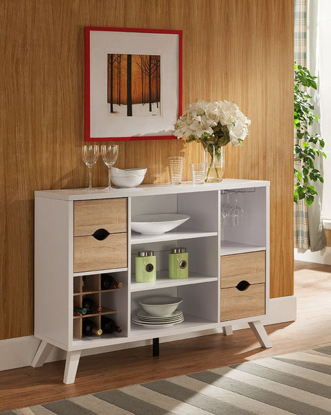 Abstract Buffet (White) | Candace and Basil Furniture