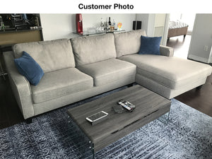 Uptown RHF Sectional  - Grey