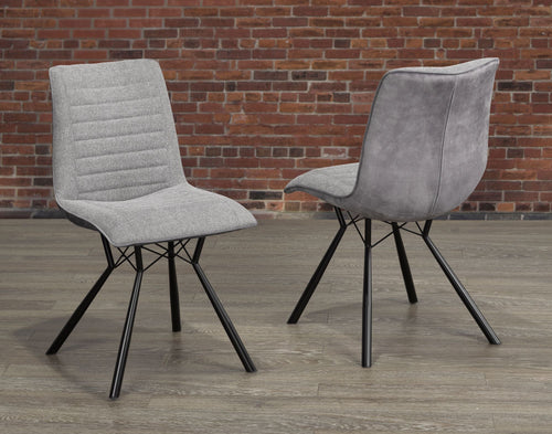 Mila Dining Chair - Grey (Set of 2)