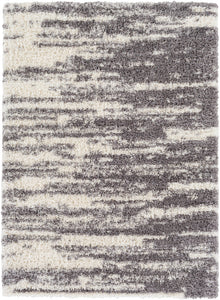 "Shag 5' 3"" x 7' 3"" Area Rug, Grey"