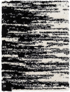 "Shag 7' 10"" x 10' 2"" Area Rug, Black"