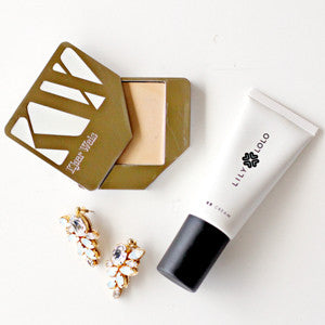 Kjaer Weis Cream Foundation + Lily Lolo Bb Cream by @megsyjaneau