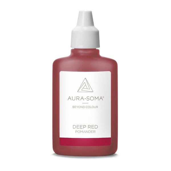POMANDER DEEP RED <br> Grounding with earth energies and strongly re-energising, 25ml