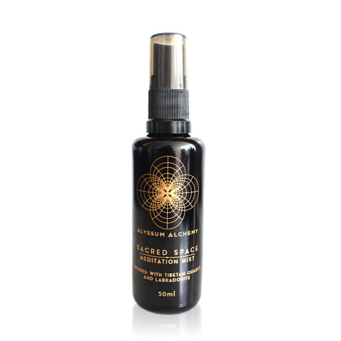 SACRED SPACE MEDITATION MIST <br> Infused with Tibetan Quartz & Labradorite, 50ml