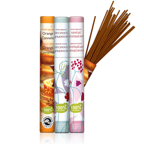 PLANT INCENSE <br> 100% plant-based formula giving off very little smoke ( 9 varieties )