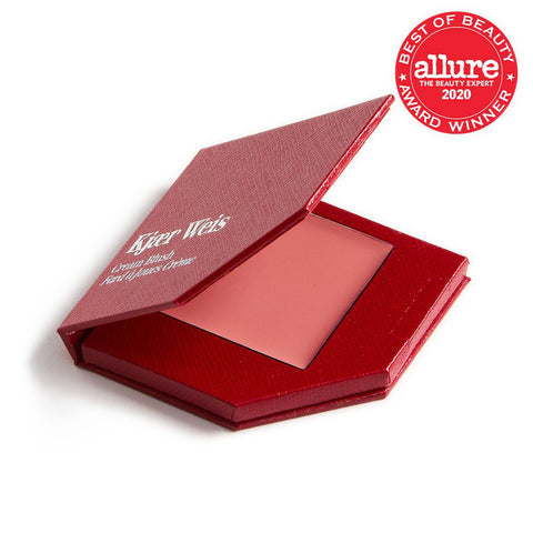 CREAM BLUSH <br> A dewy touch-of-colour that melts into skin