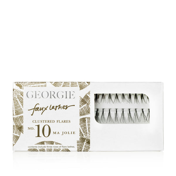 GEORGIE FAUX LASHES No.10 <br> 'Ma Jolie'. Clustered Flares. For perfectly-positioned volume