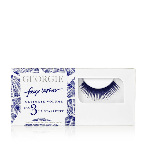 GEORGIE FAUX LASHES No.3 <br> 'La Starlette'. Ultimate volume, instant glamour