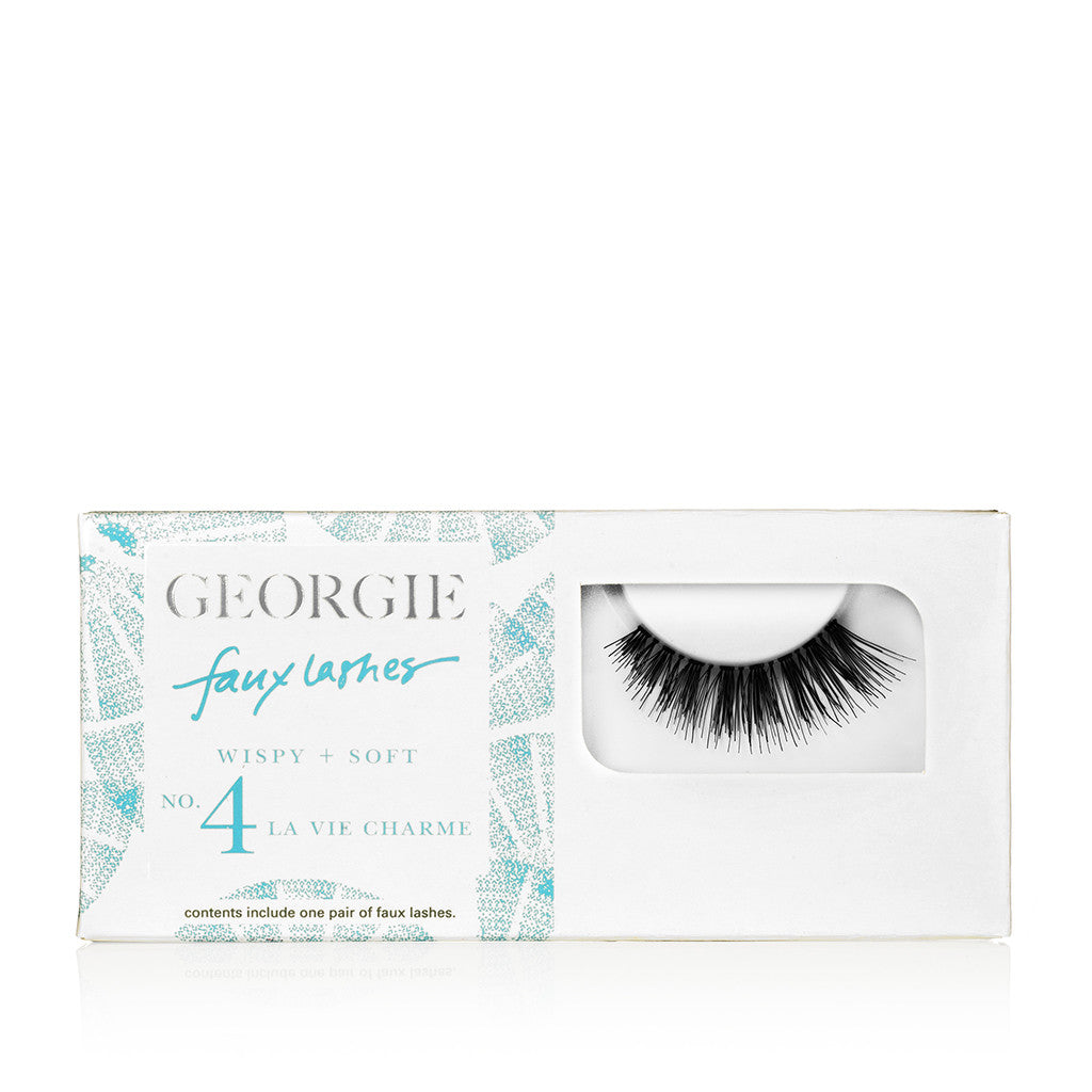 GEORGIE FAUX LASHES No.4 <br> 'La Vie Charme'. Full and Soft
