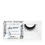GEORGIE FAUX LASHES No.5 <br> 'Midnight Muse'. Full Crisscross