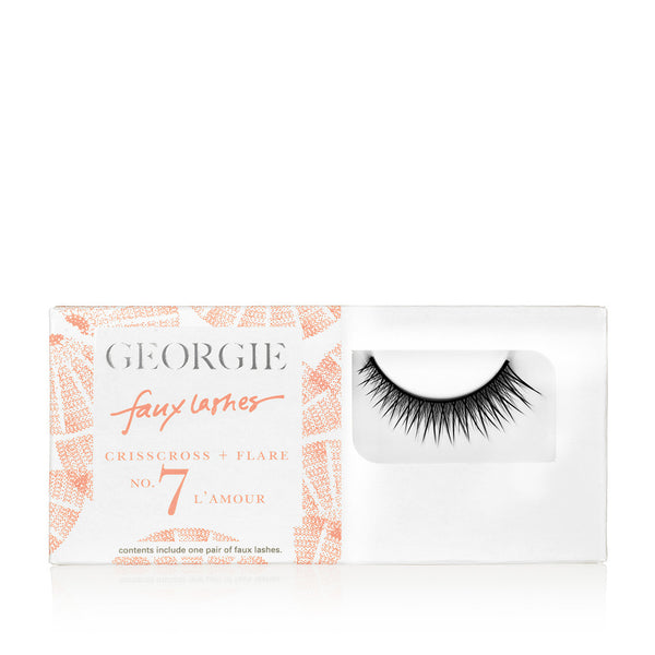 GEORGIE FAUX LASHES No.7 <br> 'L'Amour'. Light Crisscross plus Subtle Flare