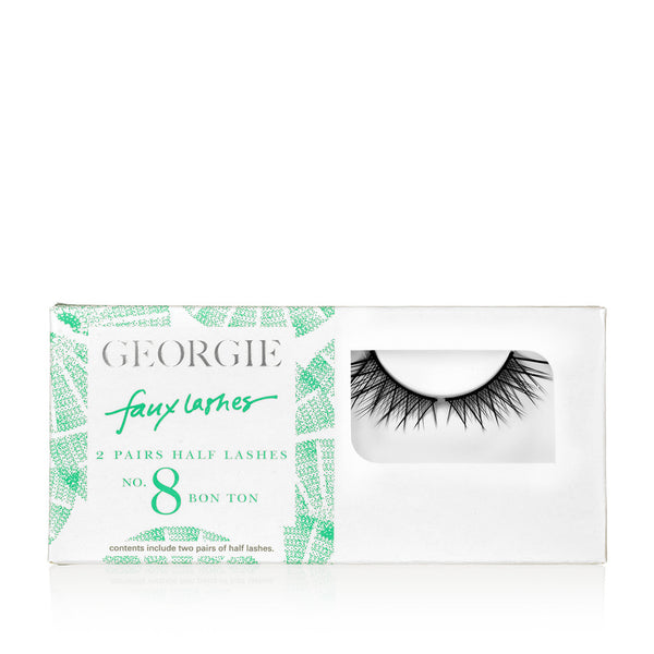 GEORGIE FAUX LASHES No.8 <br> 'Bon Ton'. Wispy Half Lashes