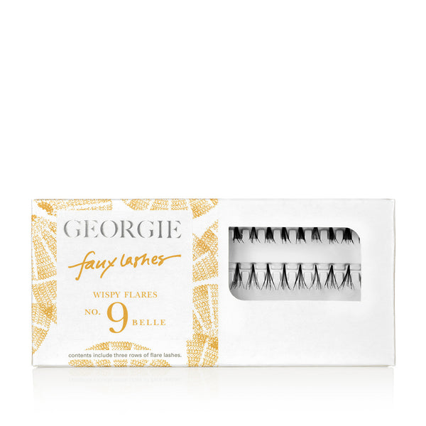 GEORGIE FAUX LASHES No.9 <br> 'Belle'. Wispy Flares