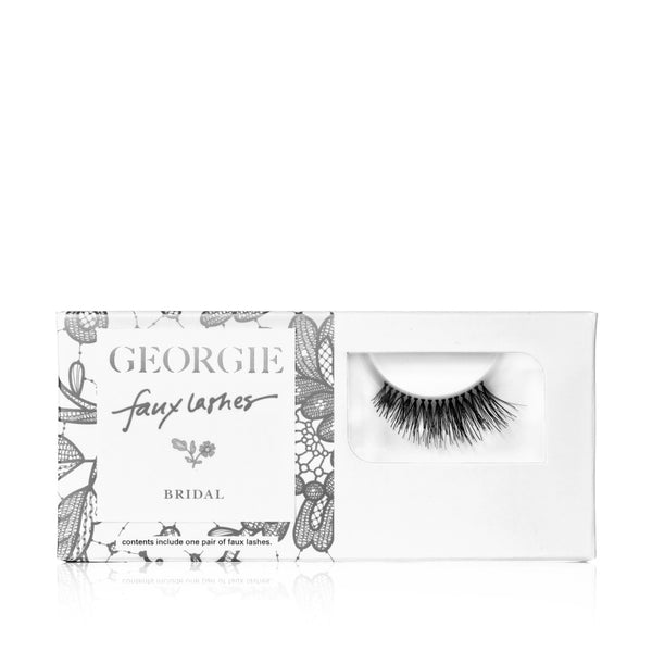 GEORGIE FAUX LASHES Bridal<br> 'Deux Coeurs'. Luxury, soft, ultra-feminine